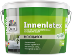 Краска ВД DUFA RETAIL INNENLATEX база 3 (10 л.) влагостойкая латексная для потолков и стен