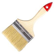 """Кисть флейцевая Любитель 4""""(100мм) натуральная щетина деревянная ручка Hobbi 01-1-440"""