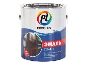 Эмаль ПФ-115 красная глянцевая 1,9 кг (Профилюкс)