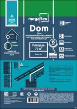 Megaflex Dom (ш 1,5, 70м2) с 2-мя клеевыми лентами влаго-ветрозащитная мембрана