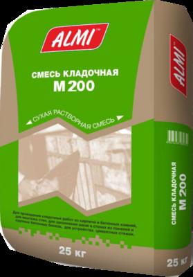"""Смесь """"АЛМИ  М-200"""" (25кг)/56  кладочная цементно-песчанная"""