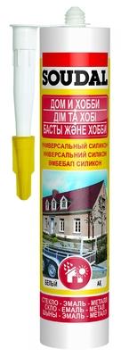 """Герметик """"SOUDAL"""" универсальный белый 310 мл/15 шт в кор"""