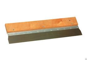 Шпатель малярный широкий 570*0,7 мм деревян.ухват Калета