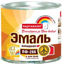 Эмаль ПФ-266 красно-кор. 2,7 кг Радуга