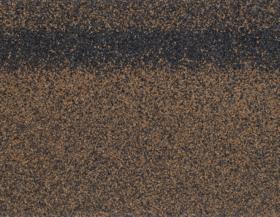 Гибкая черепица Коньково-карнизная (4K4E21-0434) КОРИЧНЕВЫЙ микс 253 х 1003 х 40 мм уп.12 шт/3 м2