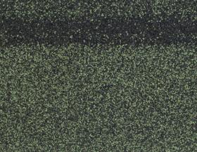 Гибкая черепица Коньково-карнизная (4K4E21-0436) ЗЕЛЕНЫЙ микс 253 х 1003 х 40мм уп.12 шт/3 м2