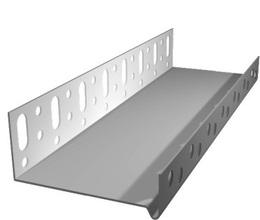 Профиль цокольный AL 100мм 2,5м (Россия)
