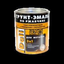 Грунт-эмаль по ржавчине 3 в 1 DALI коричневая молотковая 2л