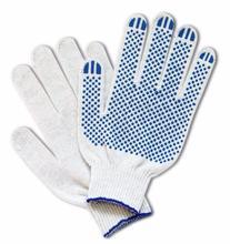 Перчатки вязаные 4  нити, х/б с ПВХ покрытием