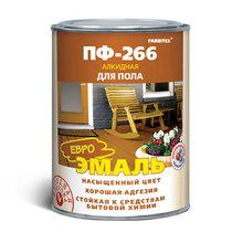 Эмаль ПФ-266 красно-коричневая 1,9 кг (FARBITEX)