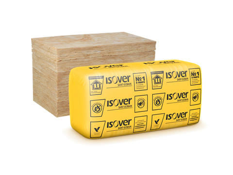 ИЗОВЕР Венти Оптимал (50*600*1000) (0,180 куб.м.)/6 плотность 75-80 кг/м3